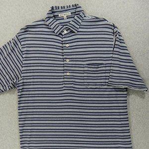 Peter Millar Striped S/S Pocket Polo Shirt